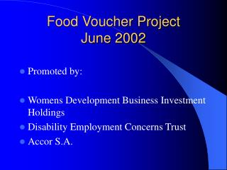 Food Voucher Project June 2002