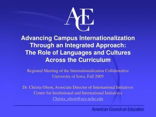 Regional Meeting of the Internationalization Collaborative University of Iowa, Fall 2005