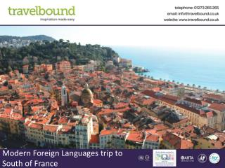 Modern Foreign Languages trip to South  of France