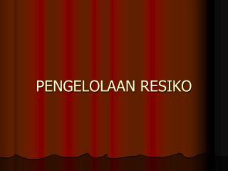 PENGELOLAAN RESIKO