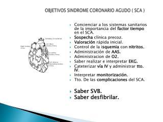 OBJETIVOS SINDROME CORONARIO AGUDO ( SCA )