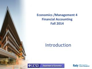 Economics /Management 4 Financial Accounting Fall 2014