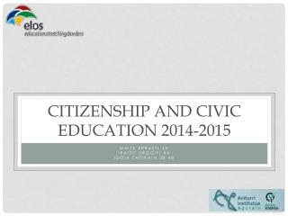 CITIZENSHIP and CIVIC EDUCATION 2014-2015
