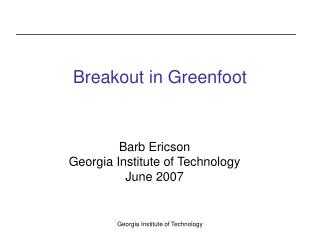 Breakout in Greenfoot