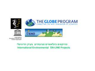 פרויקטים בינלאומיים סביבתיים  בעידן הדיגיטלי International Environmental  ON-LINE Projects