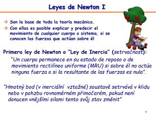 Leyes de Newton I