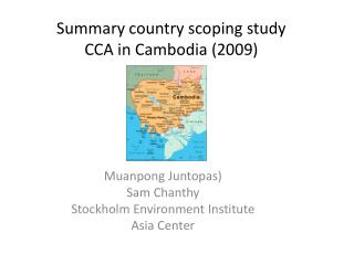 Summary country scoping study  CCA in Cambodia (2009)