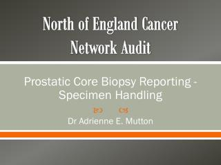 North of England Cancer  N etwork Audit