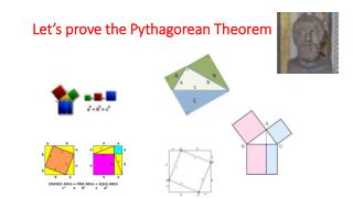 Let's prove the Pythagorean  T heorem