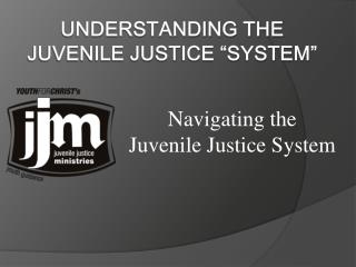"Understanding the Juvenile Justice ""System"""