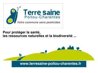 Pour prot�ger la sant�,  les ressources naturelles et la biodiversit� ...