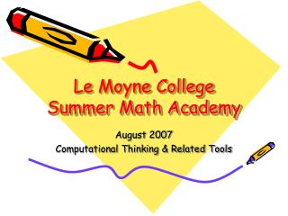 Le Moyne College Summer Math Academy