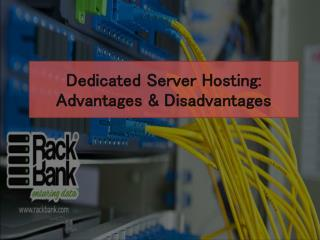Dedicated Server Hosting: Advantages & Disadvantages