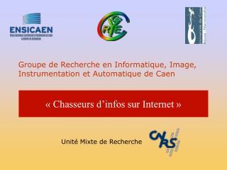 Groupe de Recherche en Informatique, Image, Instrumentation  et  Automatique de Caen