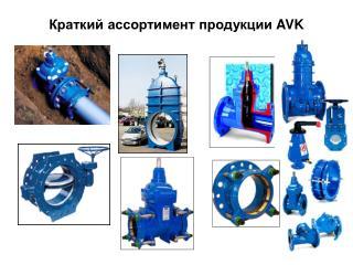 Краткий ассортимент продукции  AVK