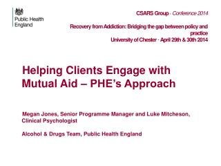 Helping Clients Engage with Mutual Aid – PHE's Approach
