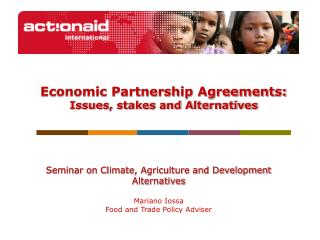 Economic Partnership Agreements: Issues, stakes and Alternatives