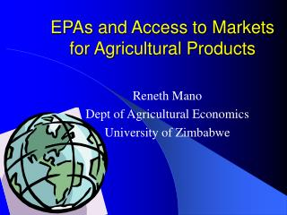 EPAs and Access to Markets for Agricultural Products