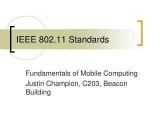 IEEE 802.11 Standards