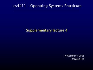 cs4411 – Operating Systems Practicum