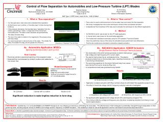 Control of Flow Separation for Automobiles and Low-Pressure Turbine (LPT) Blades