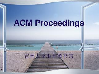 ACM Proceedings
