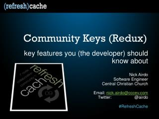 Community  Keys ( Redux )
