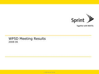 WP5D Meeting Results 2008-06