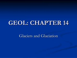 GEOL: CHAPTER 14