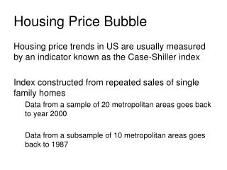 Housing Price Bubble