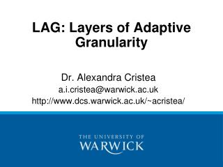 LAG: Layers of Adaptive Granularity