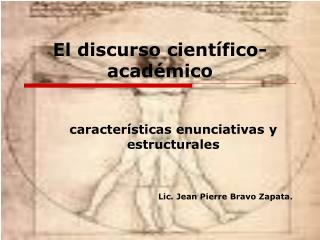 El discurso cient�fico-acad�mico