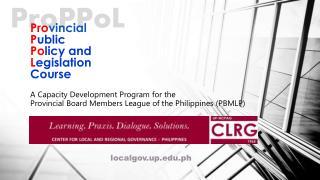 Pro vincial P ublic Po licy and  L egislation Course