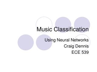 Music Classification