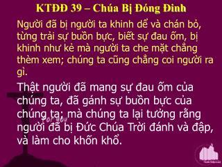 KT   39   Ch a B   ng  inh