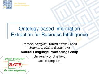 Ontology-based Information Extraction for Business Intelligence