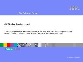 JSF Rich Text Area Component