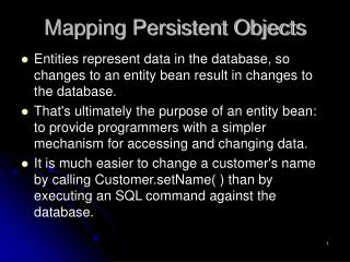 Mapping Persistent Objects