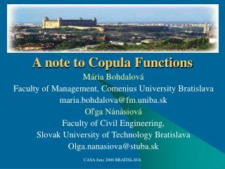 M ria Bohdalov  Faculty of Management, Comenius University Bratislava maria.bohdalovafm.uniba.sk Olga N n siov  Faculty