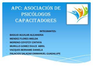 APC: Asociación de Psicólogos Capacitadores
