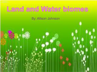 Land and Water biomes