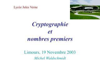 Cryptographie  et  nombres premiers