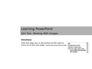 Learning PowerPoint Part Two: Working With Images