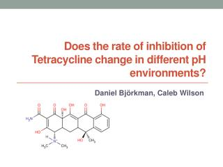 Does the rate of inhibition of Tetracycline change in different pH environments?