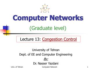Computer Networks (Graduate level)
