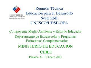 Reunión Técnica  Educación para el Desarrollo Sostenible UNESCO/UDSE-OEA
