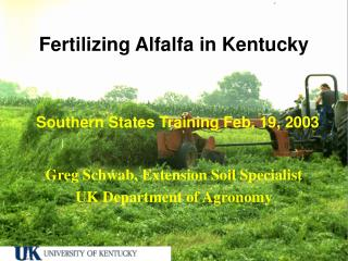 Fertilizing Alfalfa in Kentucky