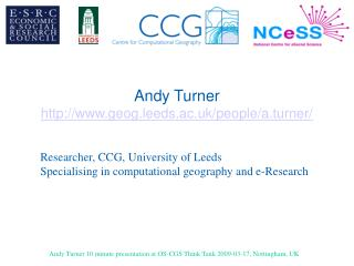 Andy Turner geog.leeds.ac.uk/people/a.turner/