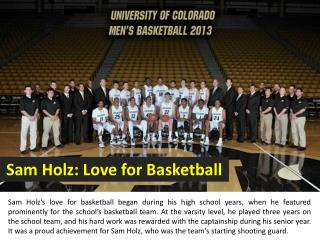 Sam Holz: Love for Basketball