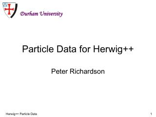 Particle Data for Herwig++